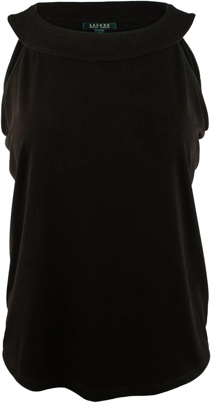 Lauren Ralph Lauren Womens Plus Matte Jersey Scoop Neck Tank Top
