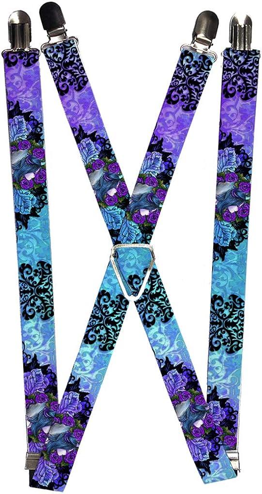 Buckle-Down Suspender - Tattoo Johnny Fairy Blue Hair