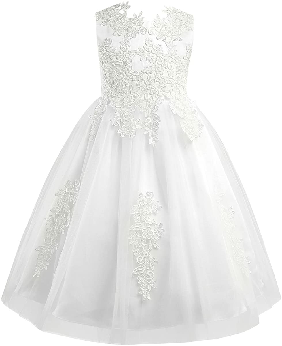 Aislor Girls Ivory National uniform free shipping Water-Soluble Lace Wedding 2021new shipping free Girl Flower Dress