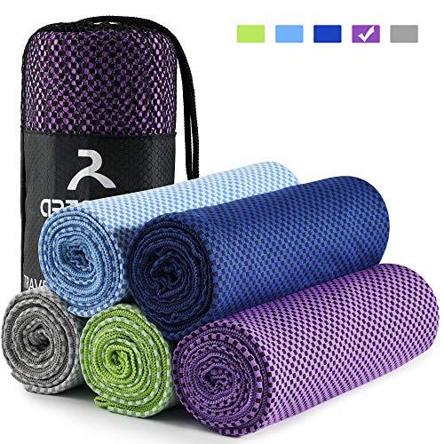 arteesol Mikrofaser Handtuch Handtücher für Sport Fitness Sauna Microfaser Badetuch, Reisehandtuch schnelltrocknend & saugstark (80 * 160cm, Lila)