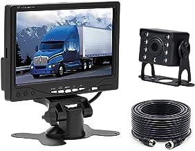 """Caméra de recul pour Voiture Camecho + Kit Moniteur LCD 7""""TFT 12V – 24V Kit.."""