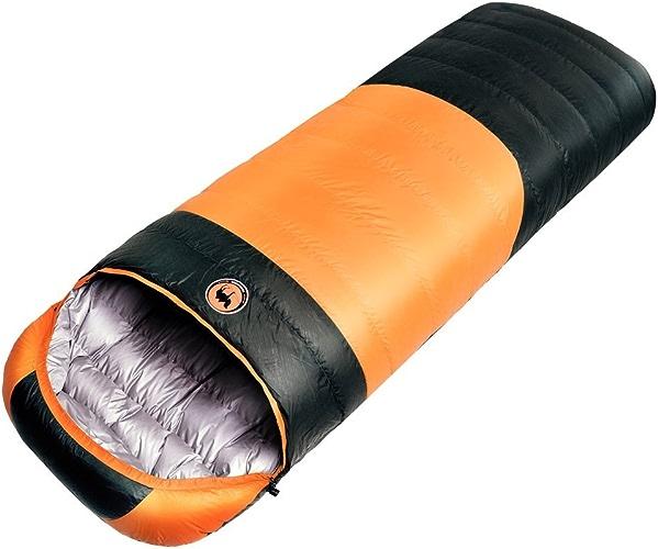 Samcamel extérieur Camping Sac de couchage chaud imperméable léger 3saisons Duvet de Canard Blanc en cuir Orange Orange about 4.2lbs