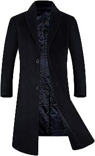 APTRO Men's Wool Blend Trench Coat Full Length Overcoat Fleece Lining Top Coat
