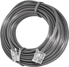 Uvital 33 Feet Telephone Landline Extension Cord Cable Line Wire with Standard RJ-11 6P4C Plugs(Grey 10M,1Pack)