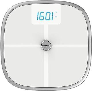 MHBY Báscula de Peso, báscula de Salud Inteligente Bluetooth WiFi Medida de sincronización IMC BMR Grasa visceral Grasa Corporal Agua 150 kg de Peso báscula báscula de baño