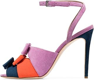 Sandalias Americana. Color de Boca de pez a Juego. Arco de tacón Alto. Sandalias Femeninas. Zapatos de Mujer de Gran tamao. JDF