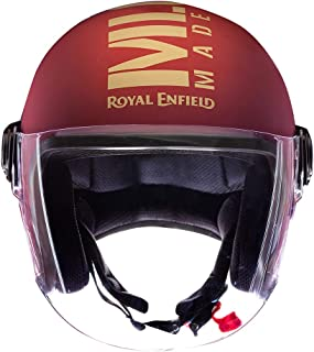 Royal Enfield Matt Maroon Open Face with Visor Helmet Size (M)57 CM (RRGHEL000061)