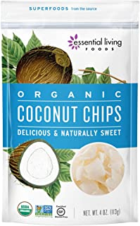 Essential Living Foods Coconut Chips Hojuelas de Coco, 113 g