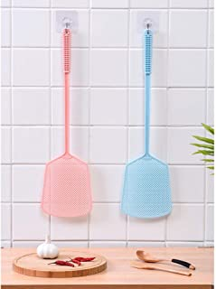Fly Swatter Plastic Fly Swat Insect Mosquito Wasp Pest Control 2 Pack Fly Swatters,Plastic Long Handle Manual Swat Pest Co...