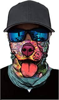 Bandana Face Mask Neck Gaiter, Cool Unisex Scarf Mask Tube Multifunctional Headwear, UV Protection Buff Face Mask