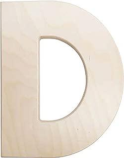 Darice U0993-D Bold Solid Wood Letter, Capital D, 12