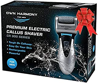 Best Electric Foot Callus Remover: Rechargeable Pedicure Tools for Men by Own Harmony - 3 Rollers Professional Spa Electronic Micro Pedi Feet File Care Best for Hard Cracked Skin and Powerful Exfoliation Review