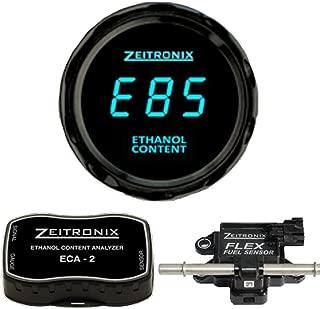 Zeitronix ECA-2 Ethanol E% Content Analyzer Kit with Blue Display Gauge