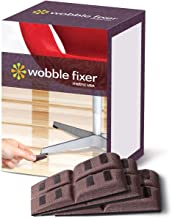 Shims by Wobble Fixer Metric USA (48 PCS/Set of 12) Soft Furniture Levelers Restaurant Table Shims are Stackable and Customizable