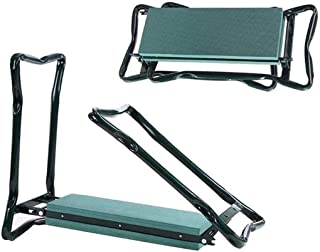 Folding Garden Kneeler and Seat Stools Comfy EVA Foam Pad Protects Your Knees Clothes from Dirt & Grass Stains Sturdy and ...