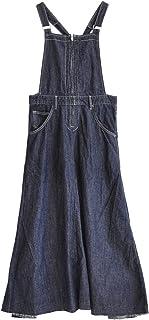 (イーザッカマニアストアーズ)e-zakkamania stores デニム サイド切替え フレアサロペットスカート