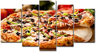 So Crazy Art 5 Panel Wall Art Painting Pizza Food Prints On Canvas The Picture Food Pictures Oil For Home Modern Decoration Print Decor