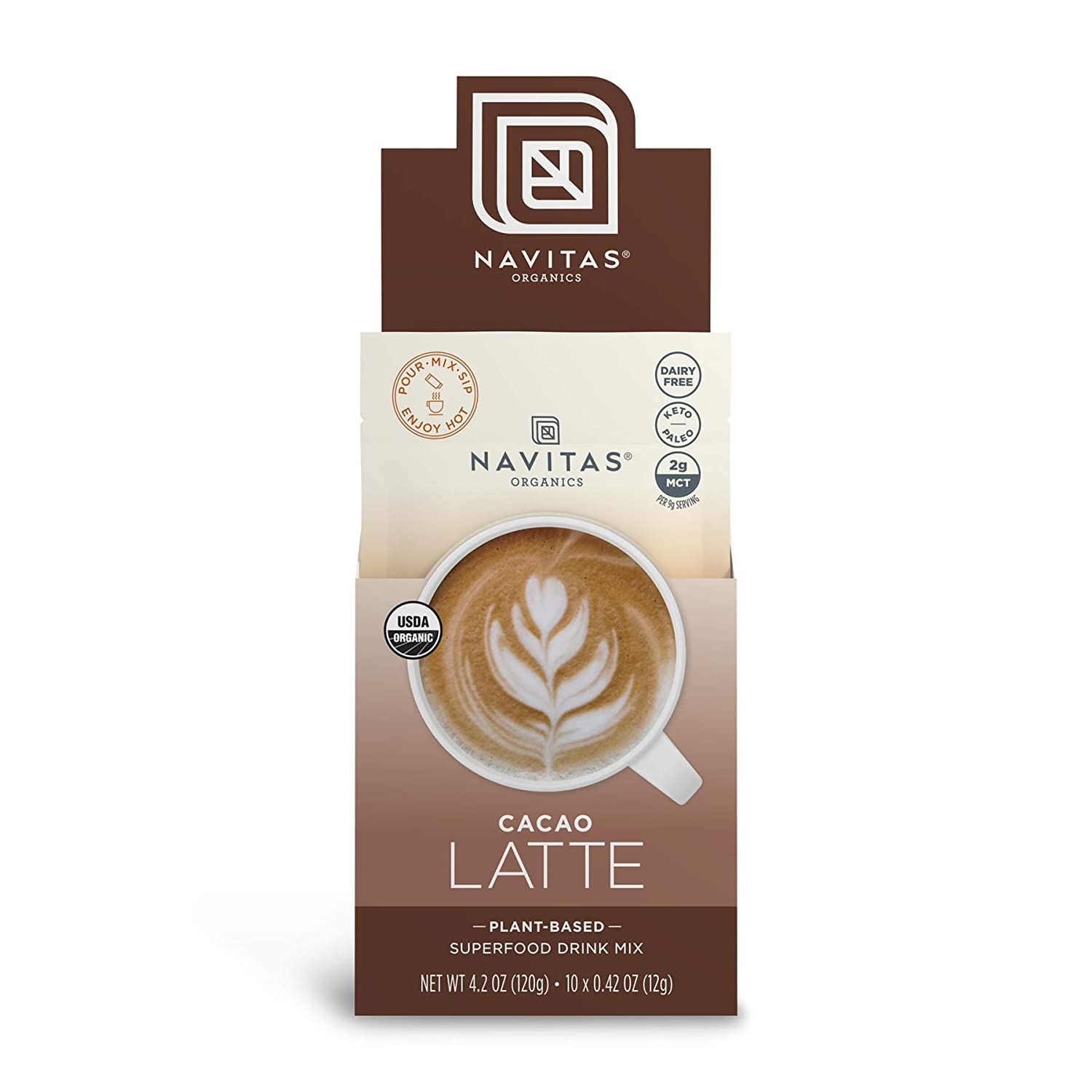Navitas Organics Cacao Latte 25% OFF 4.2 Servings Single Genuine Free Shipping 10 oz. Pouch