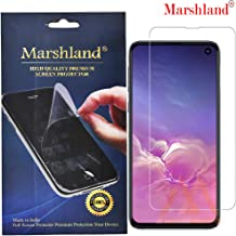 MARSHLAND Front Screen Protector Flexible Design Anti Scratch Bubble Free Screen Guard Compatible for Samsung Galaxy S10E (Transparent)