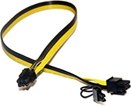 TeamProfitcom PCIe 6 Pin Male to 8 Pin (6+2) Male PCI Express Power Adapter Cable for Graphics Video Card 20-inches