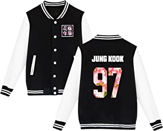 babyhealthy BTS Baseball Jacket Uniform Bangtan Boys Suga Jin Jimin Jung Kook Sweater Coat