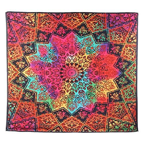 KONZFL tapizGran Tapiz de Mandala Indio para Colgar en la Pared, Toalla de Playa Bohemia, Manta Fina de poliéster, Manta de mantón de Yoga