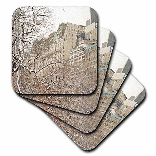 3dRose CST_10304_1 Snow Blizzard in Central Park Manhattan New York City-Soft Untersetzer, 4 Stück