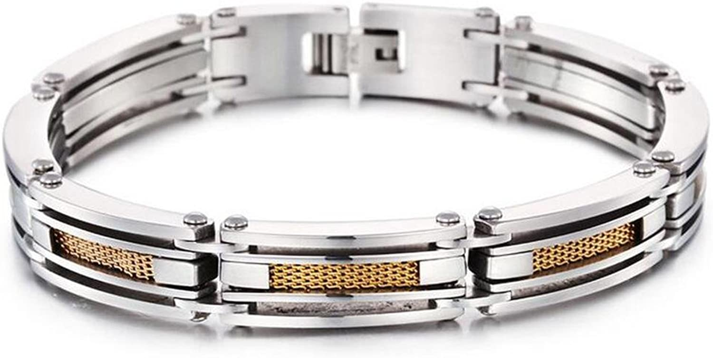 DB&PEISHI 2pcs Men's vintage titanium steel bracelet