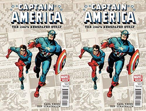 Captain America: 1940's Newspaper Strip #1 (2010) Limited Series Marvel Comics - 2 comics