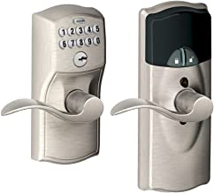 Schlage FE599NX CAM 619 ACC 619 Home Keypad Lever with Nexia Home Intelligence, Satin Nickel