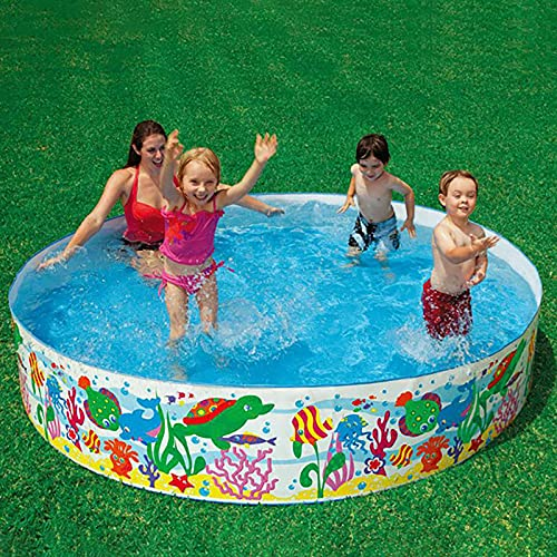 LGLE Piscina Plegable, Piscina Plegable Portátil Grande para Niños al Aire Libre, Bañera, Piscinas para Niños, para Jardín, Patio, Baño, 183X38CM,