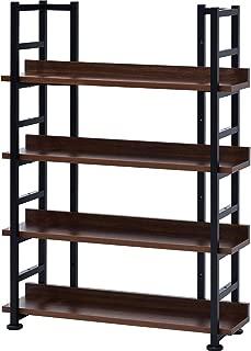 ワイエムワールド オープンラック 本棚 4段 幅75×奥行25cm ブラウン 00-242