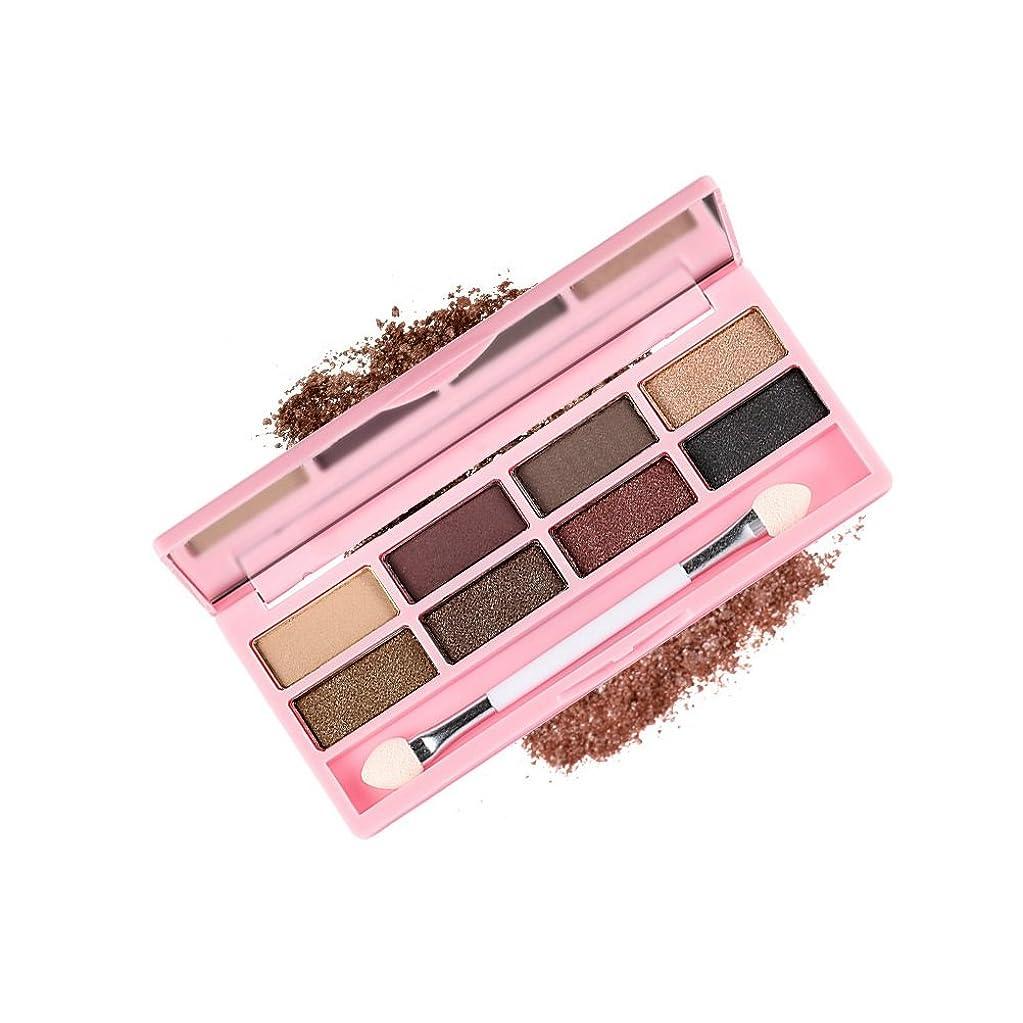 MakeupAcc アイシャドウパレット 8色 パール?マット?ハイライト アイシャドースティック、ミラー付き ウォータープルーフ (03)
