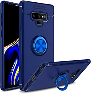 Galaxy Note 9 Case, 360 Degree Rotatable Ring Stand and Ring Holder Kickstand Fit Magnetic Car Mount Slim Soft Protective ...