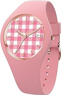 Ice-Watch - Ice Change Vichy Pink - Montre Rose pour Femme avec Bracelet en Silicone - 016053 (Small)