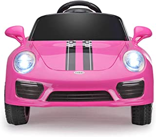JAXPETY 6V Ride On Car Kids Electric Battery Power Ride-On Vehicle w/ 2.4GHz Remote Control (Pink)