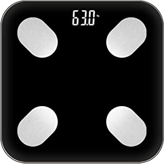 Báscula de peso digital con Bluetooth, báscula de peso para el cuerpo, báscula electrónica, báscula de peso corporal, peso digital, peso 18, color negro