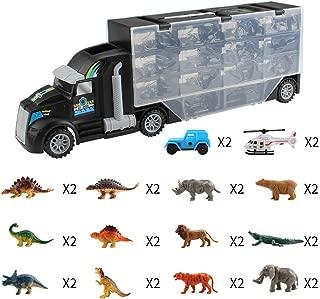 Starabu Animal Dinosaur Transport Vehicle Double-Sided Trailer Gift Toys for Children