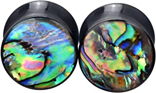 PHD LTD Acrylic Abalone Shell Double Flared Saddle Ear Plugs Tunnels Stretcher Expander Gauge 0g-3/4