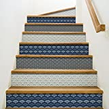 Playa adhesivos para contremarches de escaleras, vinilo, azul, 100x 0,1x 19cm