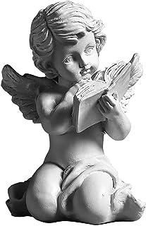 漫画を読むエンゲルStatuenウントFiguren StartseiteデコZubeh?R Sammelfigur Figur Statuen Hundwerk OrnamenteガルテンSkulptur (Color : Wei?A, Si...