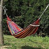 LHaoFY Hamaca Portátil para Exteriores, para Jardín, Deportes, Hogar, Viaje, Camping, Columpio De Lona A Rayas, para Colgar En La Cama, Color Rojo Y Azul (Color : Dark Gray)