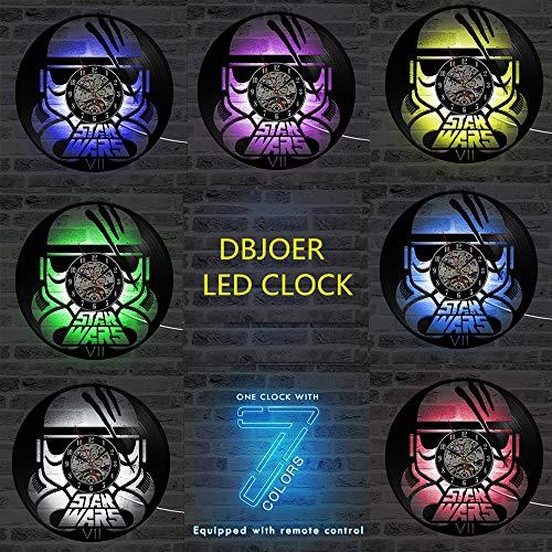 gunchkb Ledlamp, 12 inch, vinyl, zeven kleurvarianten, antieke kunst voor wandklok