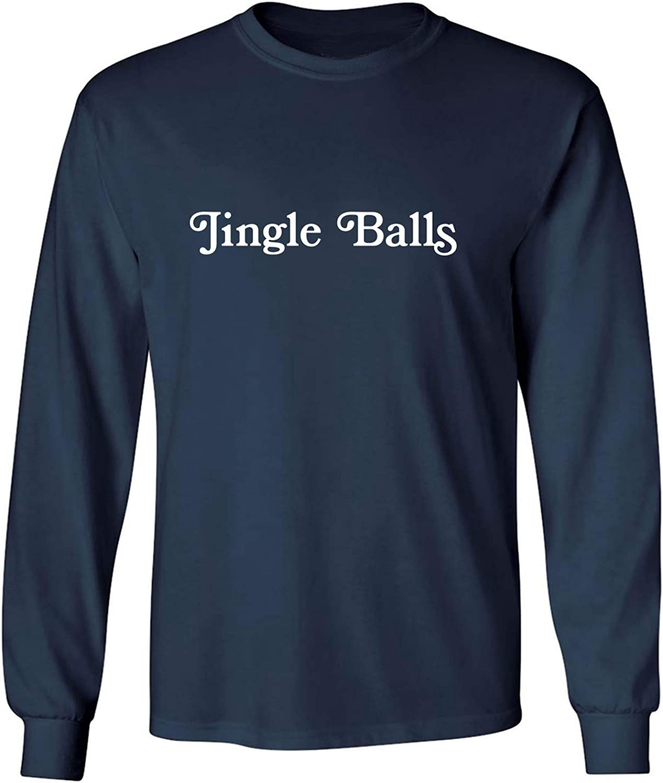 Jingle Balls Adult Long Sleeve T-Shirt in Navy - XXXXX-Large