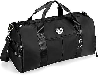 HUA ANGEL - Bolsa de viaje unisex para gimnasio, deporte, natación, viajes, yoga, con compartimento para zapatos y bolsill...