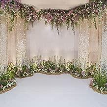 Leyiyi 6x6ft Photography Background Wedding Ceremony Backdrop Marriage Engagement Celebration Flower Blossom Arch Door 3D Hall Decoration Sequins Shine Flower Photo Portrait Vinyl Studio Video Prop