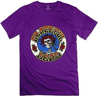 JRZJ Men's Logo Grateful Dead Psychedelic Rock Tshirts