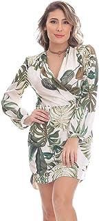 Vestido Clara Arruda Curto Decote Transpasse 50385