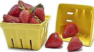 Ceramic Berry Produce Basket Bundle Set of 2