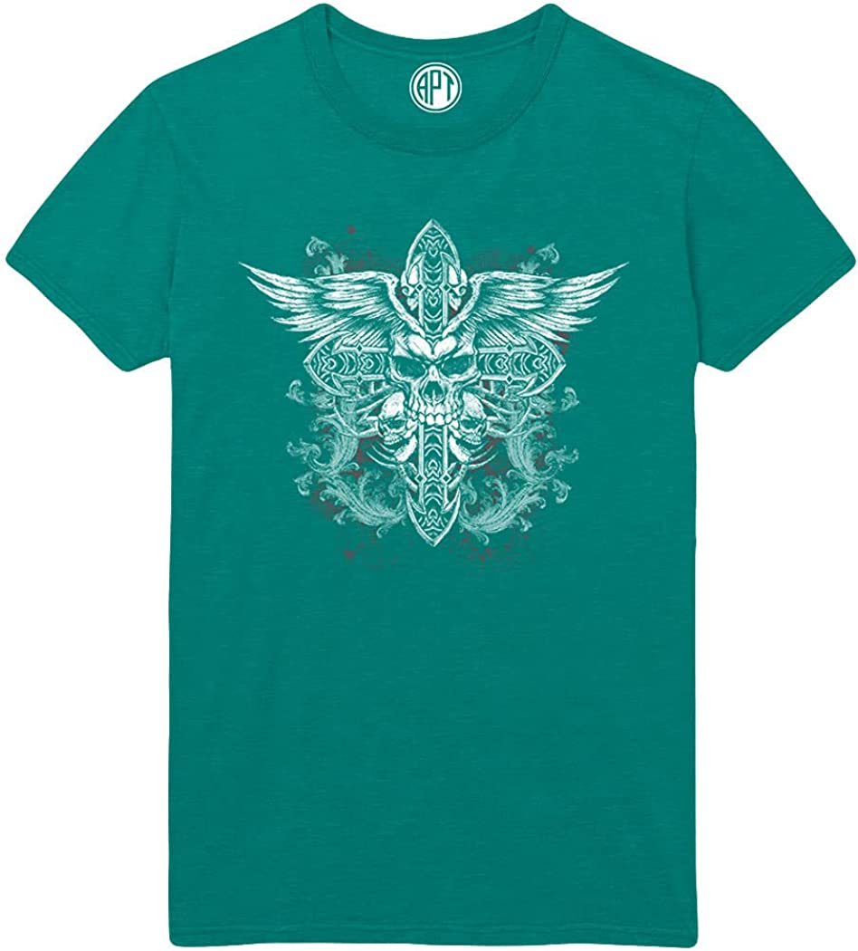 Skull Cross Wings Printed T-Shirt